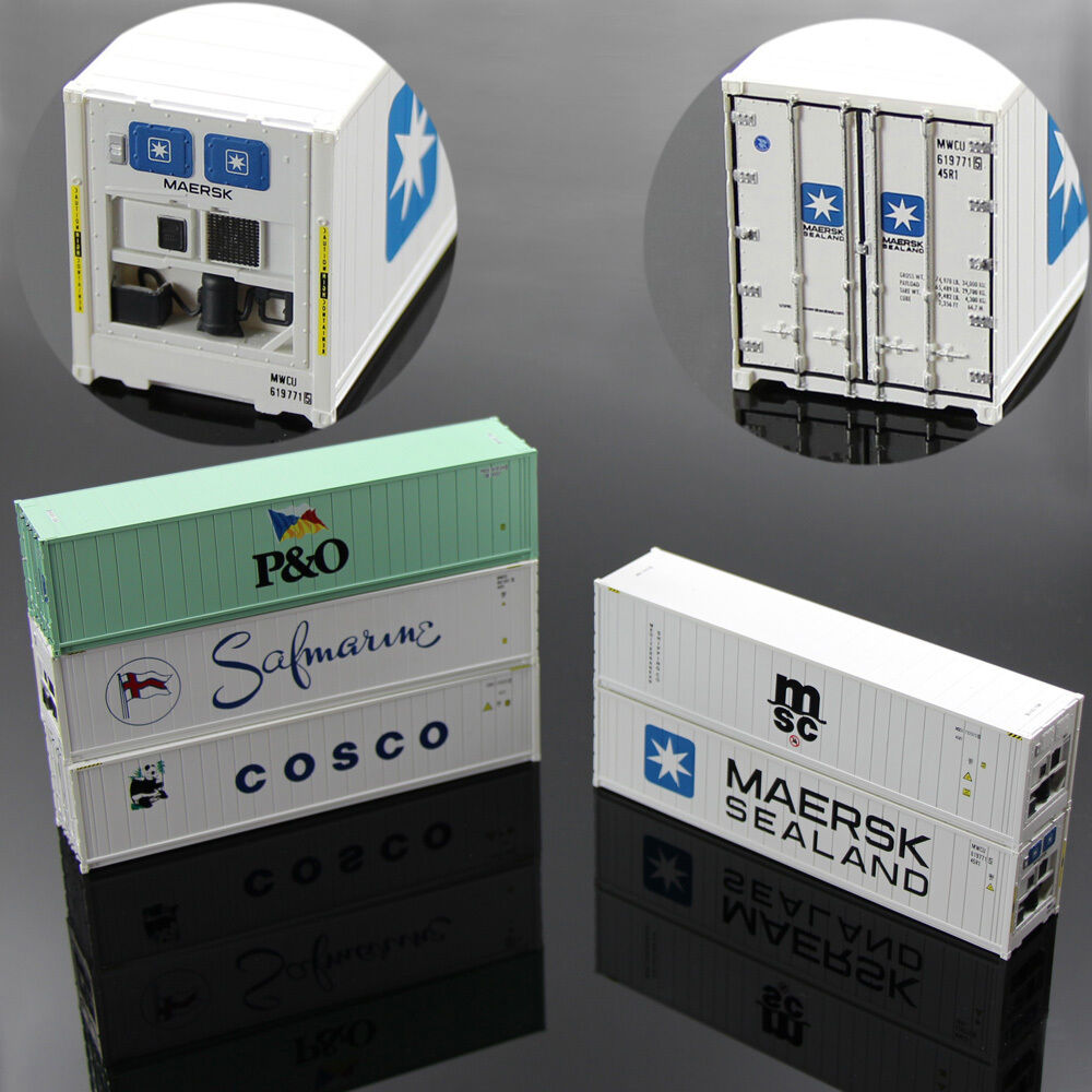 40ft Hi-Cube Refrigerater Shipping Container Freight autos HO Scale lot