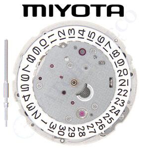 Original Miyota 9015 Watch Movement 3 Hands Date at 3 and Extra Parts