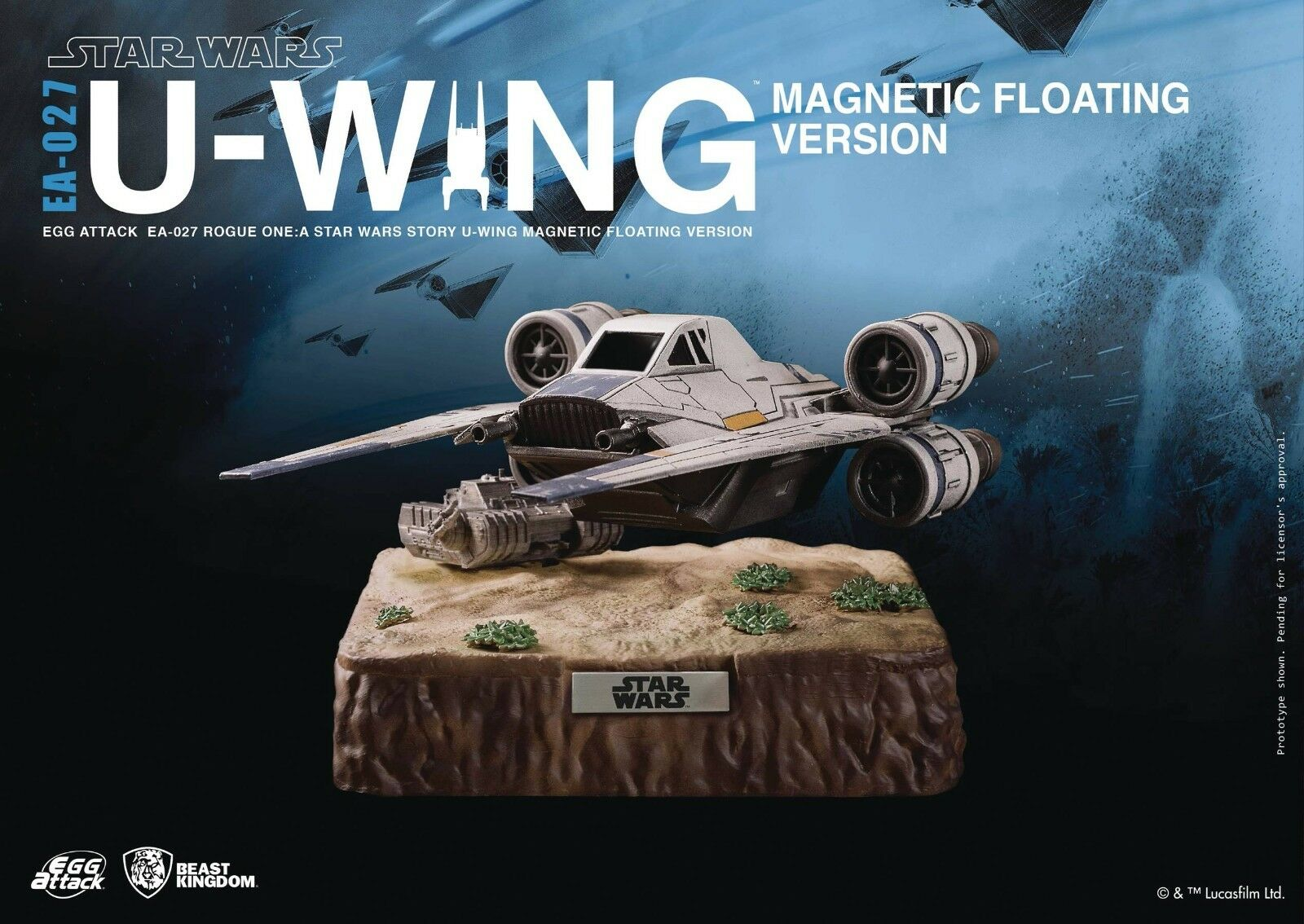 STAR WARS ROGUE ONE EAA-027 U-WING PX AF MAGNETIC FLOATING V