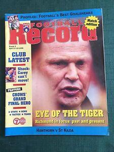 Vintage-VFL-AFL-1998-Football-Record-Hawthorn-V-At-Kilda