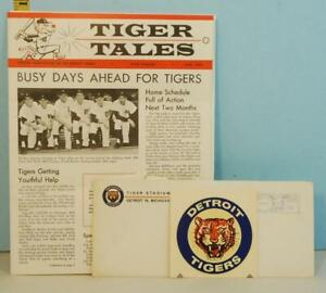 1963-Detroit-Tigers-Baseball-Club-Envelope-With-June-Tiger-Tales-amp-Decal-MINT
