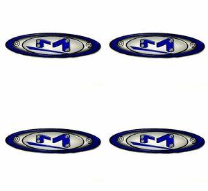 4x Moto Metal Blue 7 8 Quot X 2 7 8 Quot Od Oval Center Caps Logo
