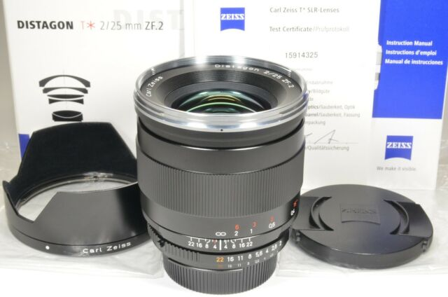 Carl Zeiss Distagon T* 25mm f2 ZF.2 for Nikon boxed from Japan #a1021 Near MINT