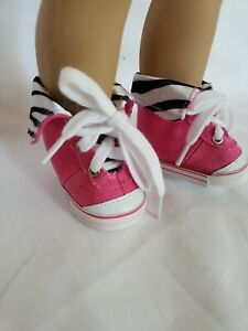 """Black High Tops Tennis Shoes Sneakers fit 18/"""" American Girl Size Doll"""