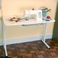 Sewing Machine Table Foldable Adjustable Portable Craft Project Desk
