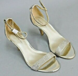 46ab6934e2f3 Bandolino Madia Two-Piece Dress Sandals Pump Shoes Size 6.5 Silver ...