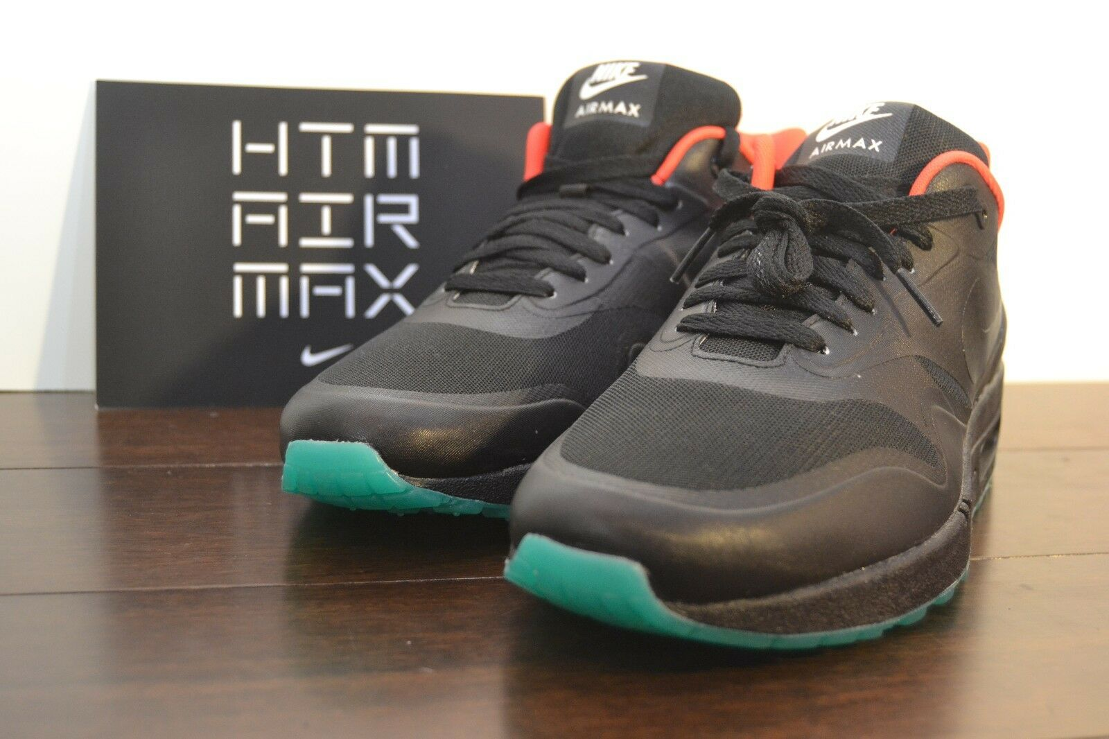 Nike ID Air Max 1 Black Solar Red 874605 991 Size 11 NEW DS Mark Parker HTM