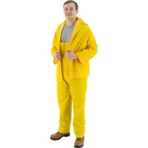wholesale online amazing quality wholesale online Details about Heavy Duty MAJESTIC ALL-SEASON RAIN SUIT Size 3XL Yellow 3  Piece PVC Rain Gear