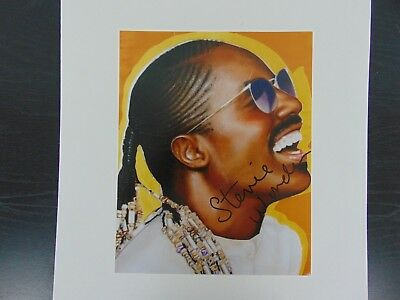 "Photographs Flight Tracker ""child Music Prodigy"" Stevie Wonder Signed Color 8x10 Photo Todd Mueller Coa Music"