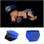 Boys /& Girls Newborn Baby Infant Police PD Hat Photo Photography Props Knit