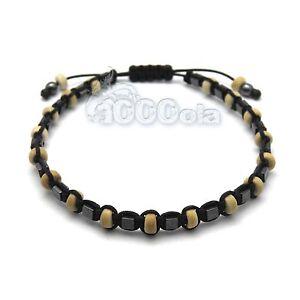 Bracelet homme perle en bois
