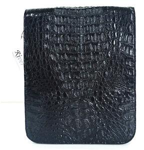 f01552190b62 Details about GENUINE CROCODILE LEATHER MEN'S SHOULDER BAG BRIEFCASE BLACK  NEW RIVER