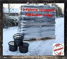 1 Palete Streusalz 100 Eimer a 5kg Auftausalz Winter Schnee Streu Salz Haus Spli