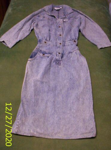 Vintage Ideas Blue Denim Jumpsuit / dress, size 7/