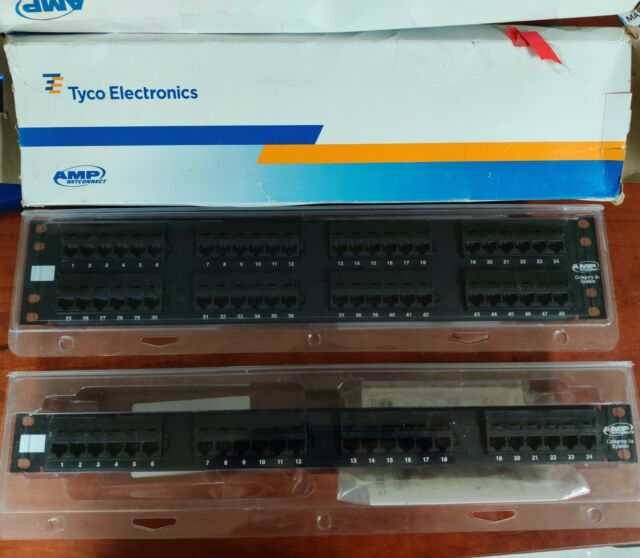 TYCO AMP Netconnect 48 PORTS CAT5E PATCH PANEL Universal Wiring   CAT 5E
