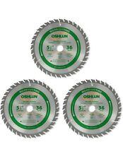 "Oshlun SBW-055036 5-1/2"" x 36T Blade w/ 5/8"" Arbor & 1/2"" & 10mm Bushing -3 Pack"