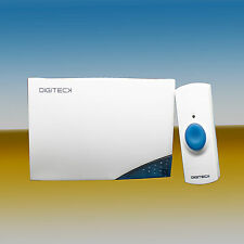 DIGITECK WIRELESS BATTERY OPERATED DOOR BELL CHIME & DOOR PUSH BUTTON, CLEARANCE