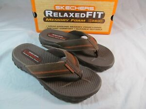 skechers relaxed fit memory foam 360 flip flops