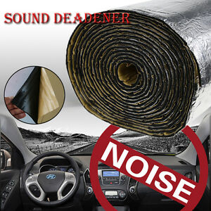 sound deadener car heat shield reflective insulation deadening noise proof mat ebay. Black Bedroom Furniture Sets. Home Design Ideas
