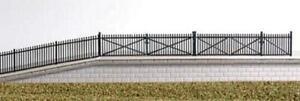 Ratio-246-N-Gauge-GWR-Spear-Fencing-Black-Ramps-amp-Gates