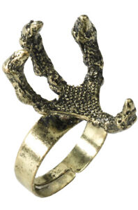 Medieval Fantasy Dragon Claw Ring Fancy Dress Accessory