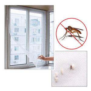 Ventana-de-malla-Magic-Cortina-Snap-Bicho-Volador-Insecto-Mosquito-Net-Blanco-Pantalla