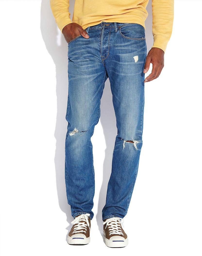 Lucky Brand 121 Heritage Hergestellt in USA Herren Slim Fit Jeans Kegel 34x32