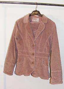 e4419199211 tailleur jupe + veste velours vieux rose taille 34 36 marque ...