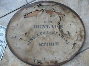 VERY-SCARCE-PHOTOGRAPHER-SIGNED-Early-Antique-Oval-Walnut-Frame-c-1840-Music
