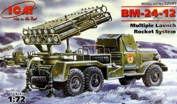 """BM-24-12 MLRS /""""katyushin/"""" ICM 1//72 20 mm"""