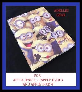 MINIONS-IPAD-4-3-OR-2-COVER-CASE-MINIONS-CROWD-DESPICABLE-ME-YELLOW