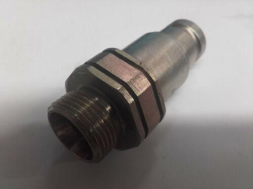 Schnellverschlusskupplung Steckkupplung Stecker  Flat-Face BG2 flachdichtend