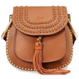 48e61aabd Image is loading Chloe-Hudson-Calfskin-Shoulder-Bag-in-Caramel-with-