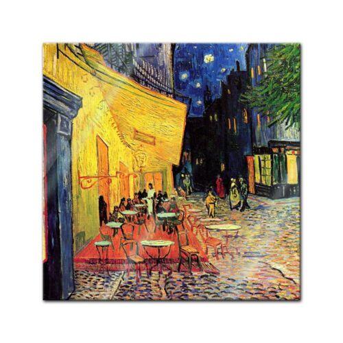 Imagen de vidrio Vincent van Gogh-los grandes maestros-café terraza en la tarde