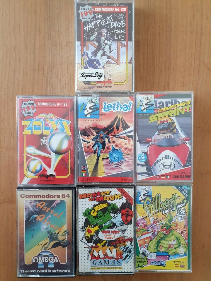 7 x C64 titler [Samlet rabat pris], Commodore 64