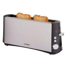 Cloer Toaster 3810 Edelstahl-Matt wärmeisoliertes Gehäuse 880 W Brötchenaufs