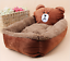 thumbnail 4 - Cartoon-Animal-Frog-Bear-Pet-Cat-Small-Dog-Soft-Bed-House-S-XS-Brown-D01