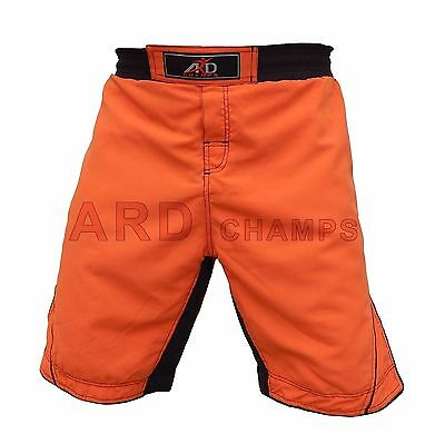 ARD Pro MMA Fight Shorts UFC Cage Fight Grappling Muay Thai Boxing Orange S- 3XL