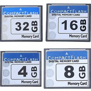 Professional 4/8/18/32GB Compact Flash Memory Card(White&Blue)
