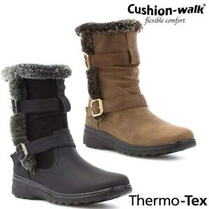 LADIES-SNOW-BOOTS-WINTER-THERMO-TEX-WARM-THERMAL-SKI-FUR-NON-SLIP-ANKLE-BOOTS