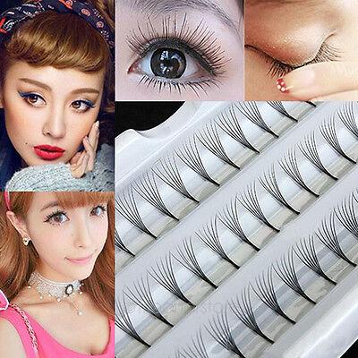 Makeup Women 60 Individual Black False Eyelash Cluster Eye Lashes Extension Tray