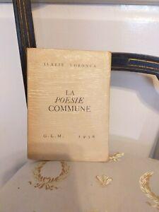 Rare : Ilarie Voronca : La Poésie Commune - GLM 1936 Autographe de l'auteur