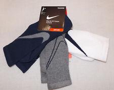 5481dbe9d6ddb Nike Dri Fit Mens 3 Pack Cotton Cushion Quarter Sx4835 901 for sale ...