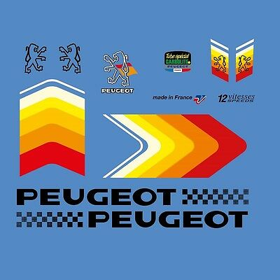 Peugeot HLE Premiere Bicycle Decals Set 388 Transfers Stickers
