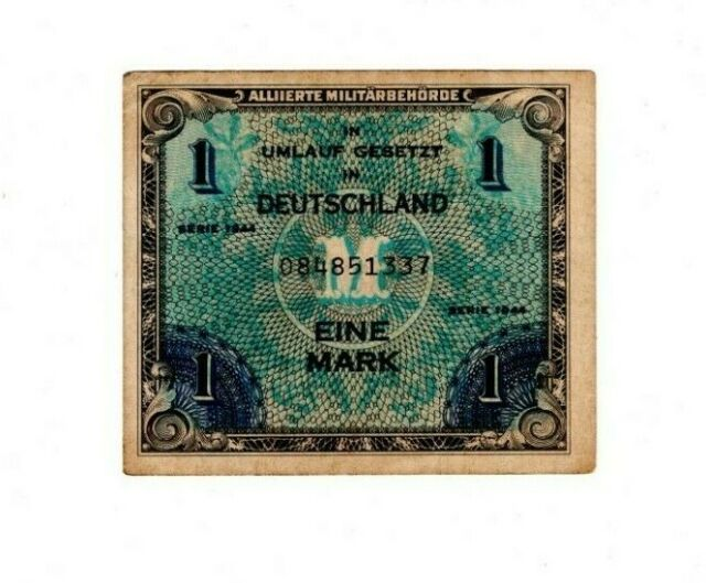 GERMANY - ALLIED OCCUPATION 1 Mark (1944) P-192 XF Banknote Paper Money