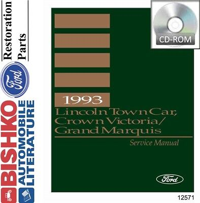 1999 Lincoln Service Specifications Manual Town Car Continental ...