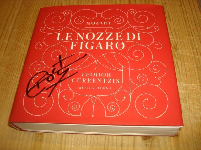 Signed Signiert TEODOR CURRENTZIS Mozart Le Nozze di Figaro 3 CD + Blu-ray Audio