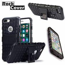 IPhone 7 PLUS... robusto EXTREME elementi militare sopravvivenza Costruito in Stand Nero