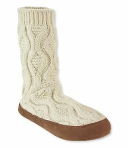 Lambswool Slipper Sock Cable Knit Size