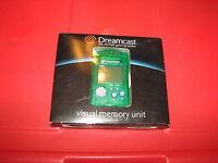 Sega Dreamcast Game System Green Visual Memory Unit For Controller